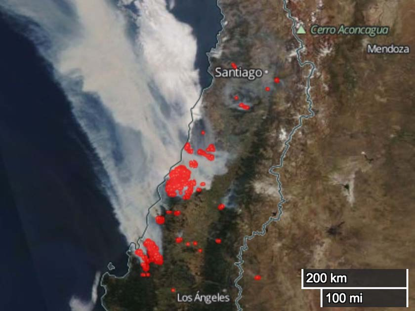 1,000 structures destroyed in Chile wildfires