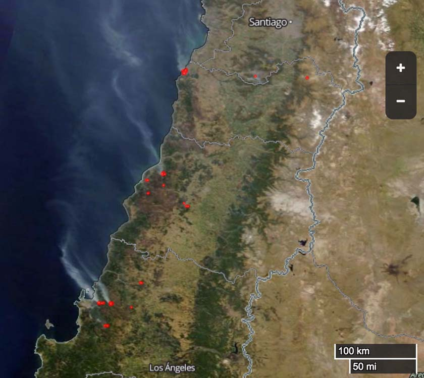 sat map wildfire Chile