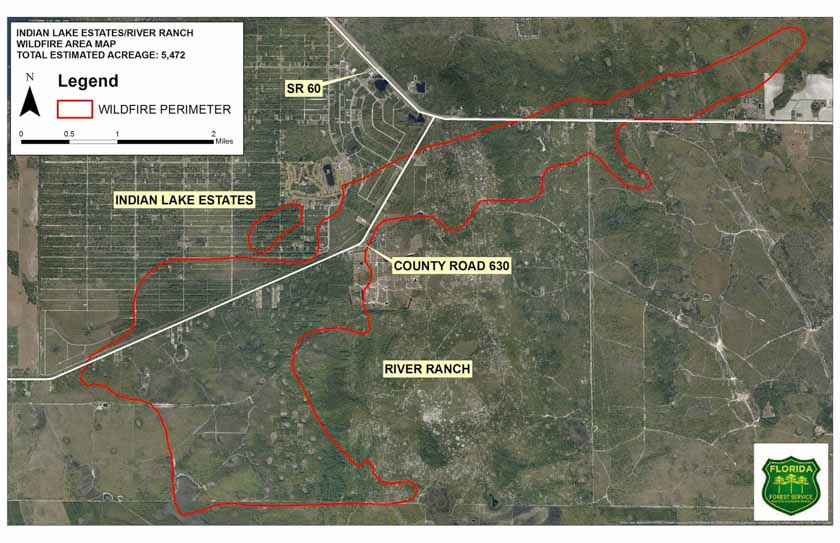 map Polk County Florida Fire