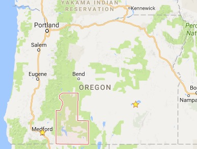 Map Klamath County Oregon Wildfire Today