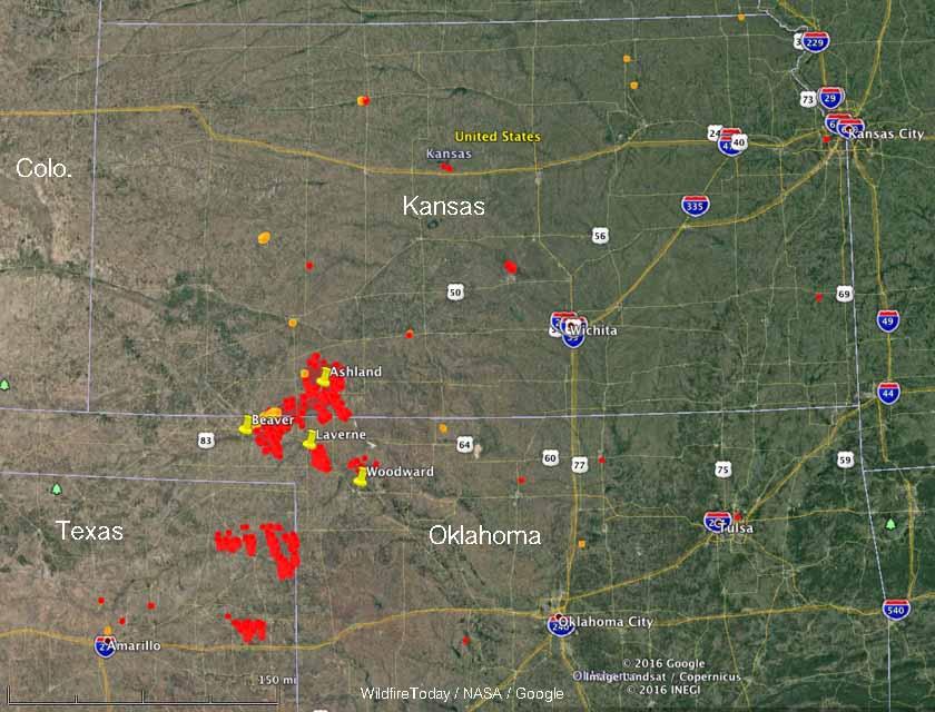 fires map kansas oklahoma texas