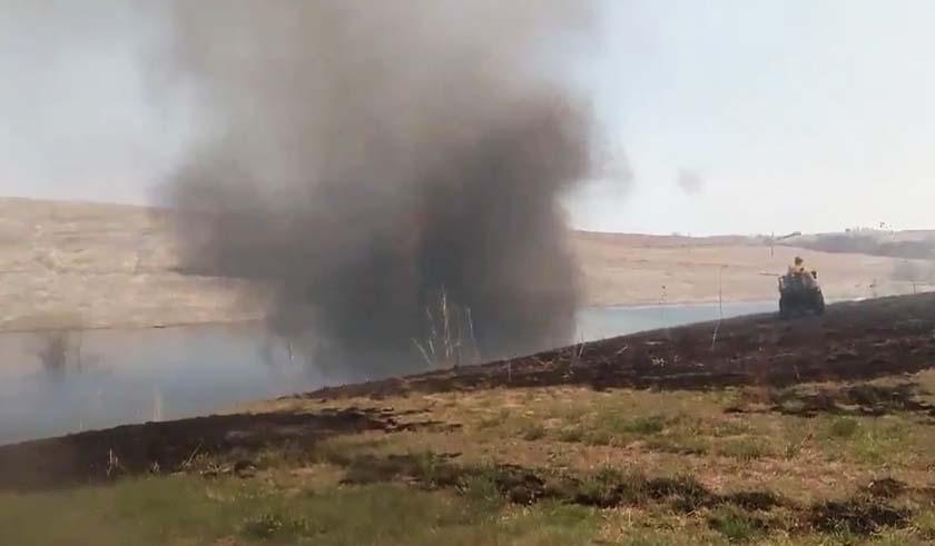 Video of impressive fire whirls in Nebraska