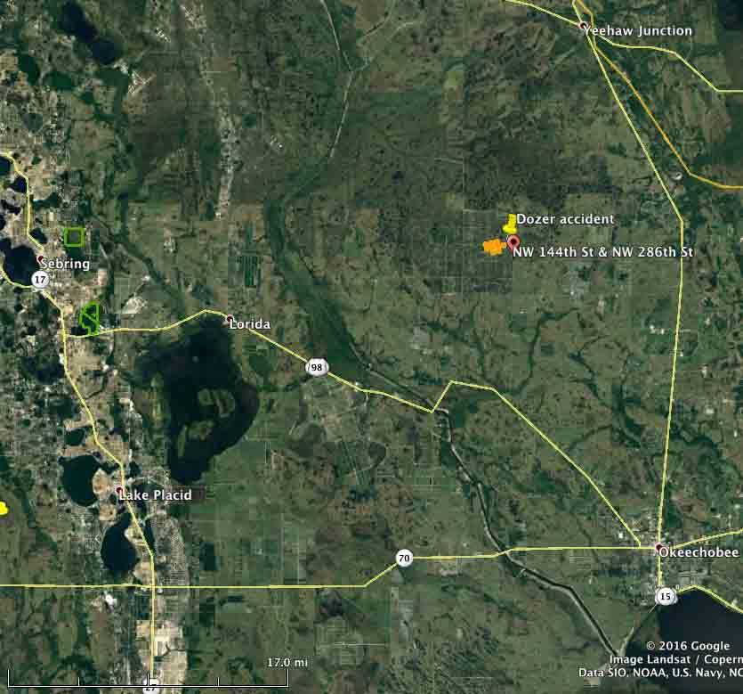 Florida Forest Fire Map.Dozer Burns In Florida Wildfire Operator Unhurt Wildfire Today