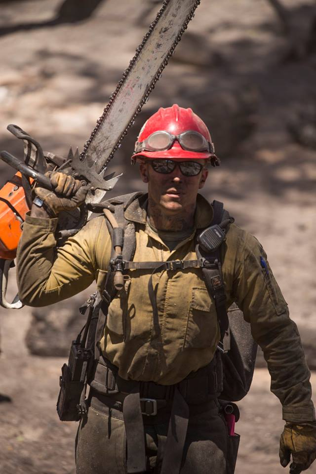 Firefighter on the Brian Head Fire