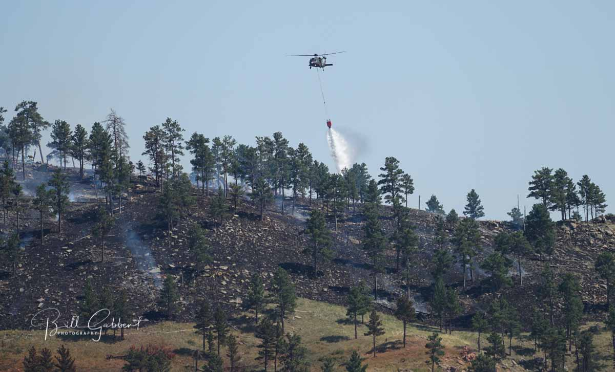 Chilson Fire burns several dozen acres in Black Hills