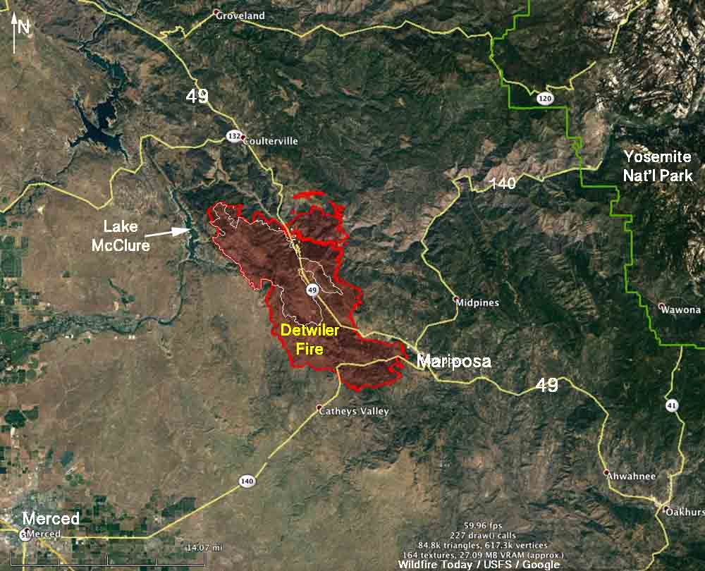 Image result for Images Map of Detwiler Fire