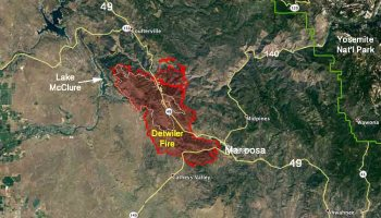 Detwiler Fire Spreads Quickly Causes Evacuation Of Mariposa - Fire map southeast us