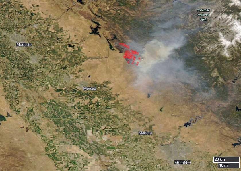 Detwiler Fire satellite photo