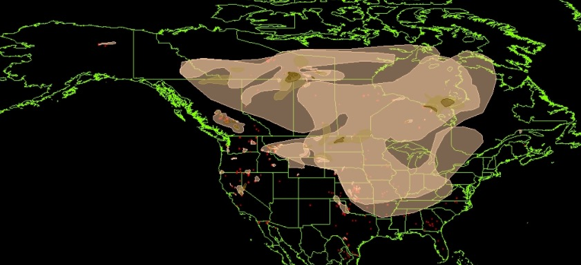 Wildfire smoke map and Red Flag Warnings