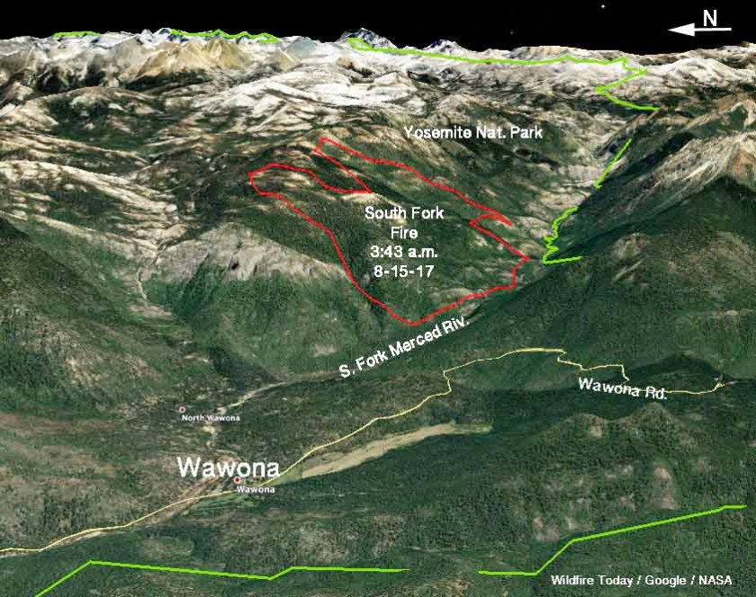 map South Fork Fire