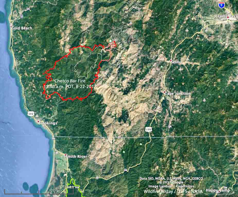 Collier County Wildfire Map.Chetco Bar Fire In Oregon Quadruples In Four Days Approaches