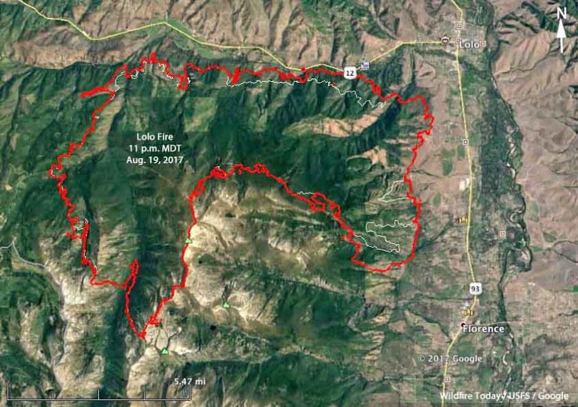 map Lolo Fire Montana