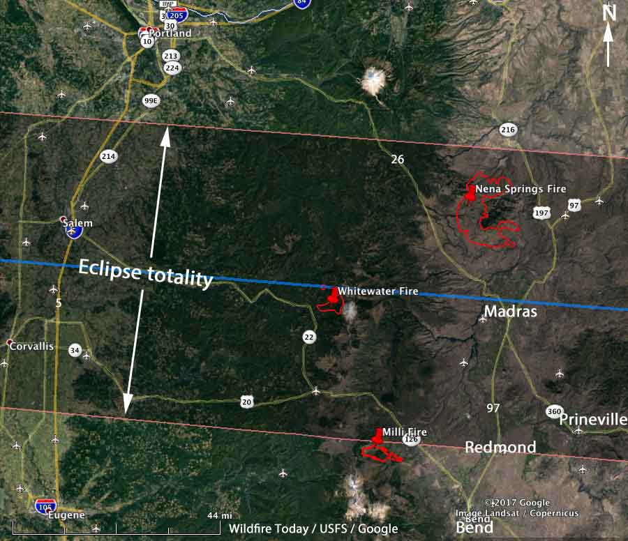 Map Nena Springs Whitewater Fires