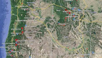 Heavy Smoke Continues To Spread Across Northwest And Northcentral - The crew us map