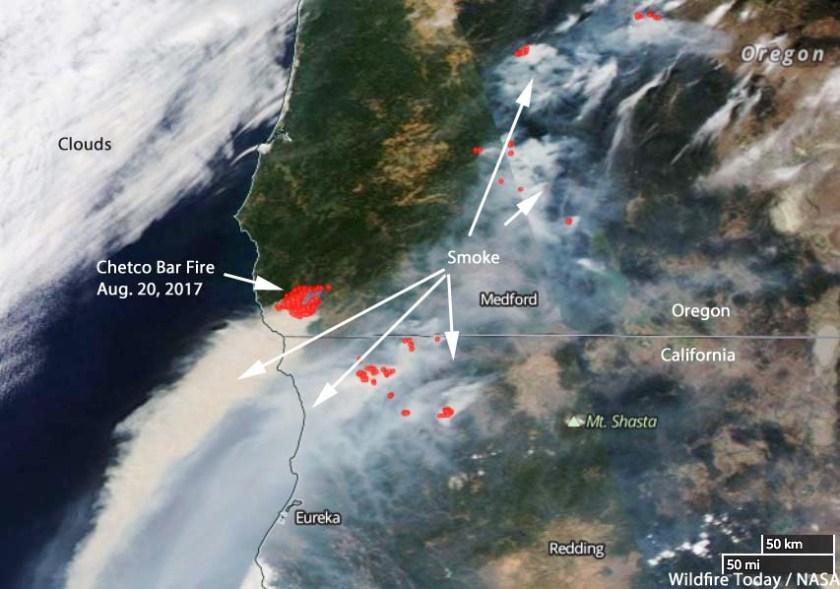 Chetco Bar Fire satellite photo