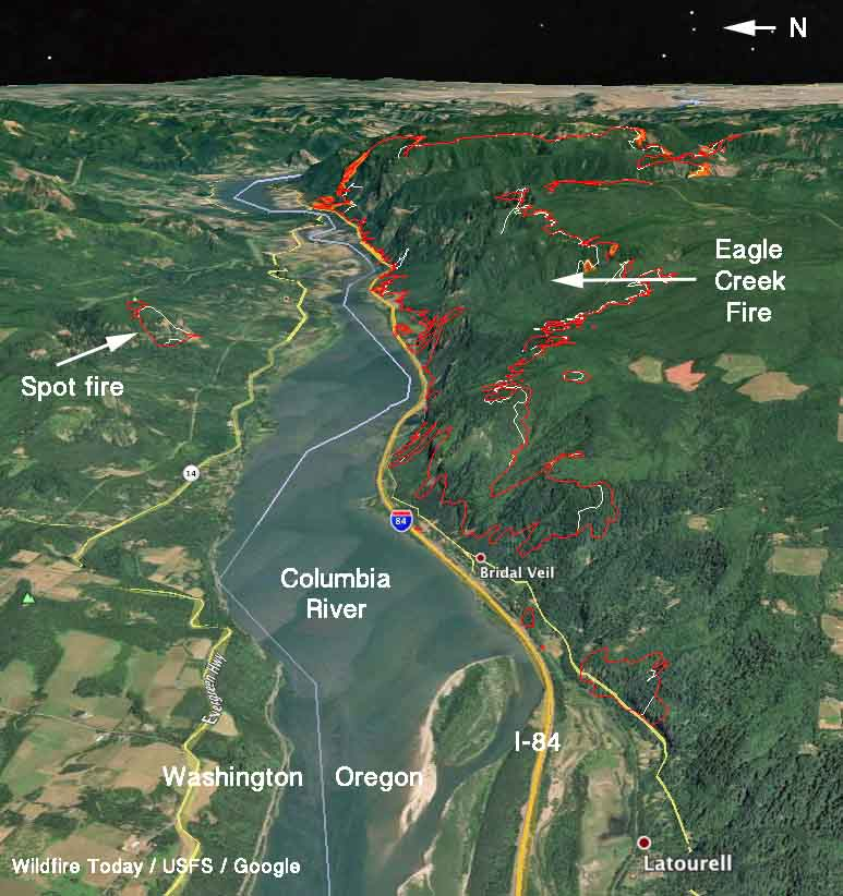 map Eagle Creek fire