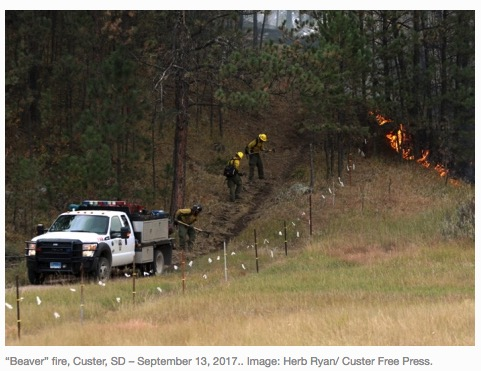 Beaver Fire firefighters