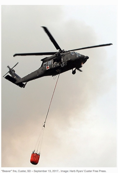 Beaver Fire blackhawk helicopter