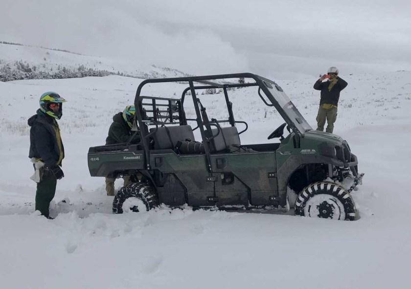 Blacktail fire snow Montana