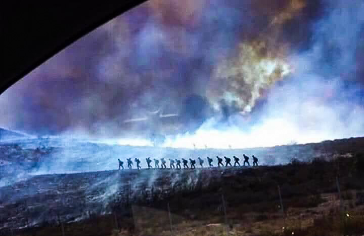 Photo: crew on Canyon Fire