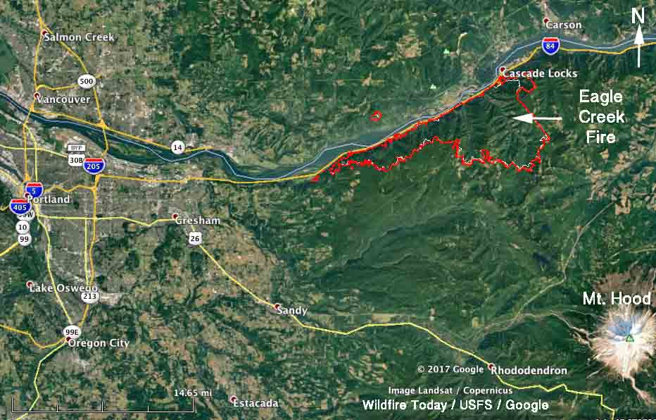 Eagle Creek Fire in Columbia River Gorge slows, but still adds over 2,000 acres