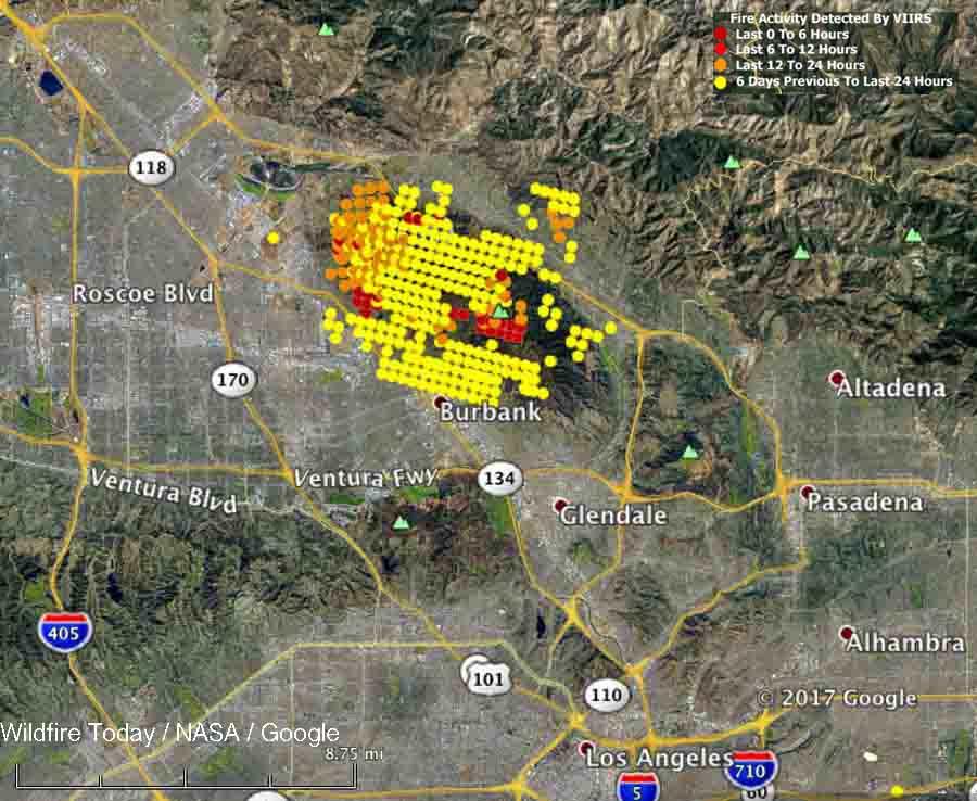 La Tuna wildfire burns structures, closes 210 Freeway in Los