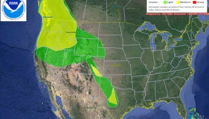 Wildfire Smoke Map September 6 2018 Wildfire Today