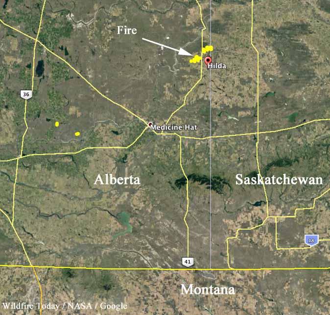 map fires alberta