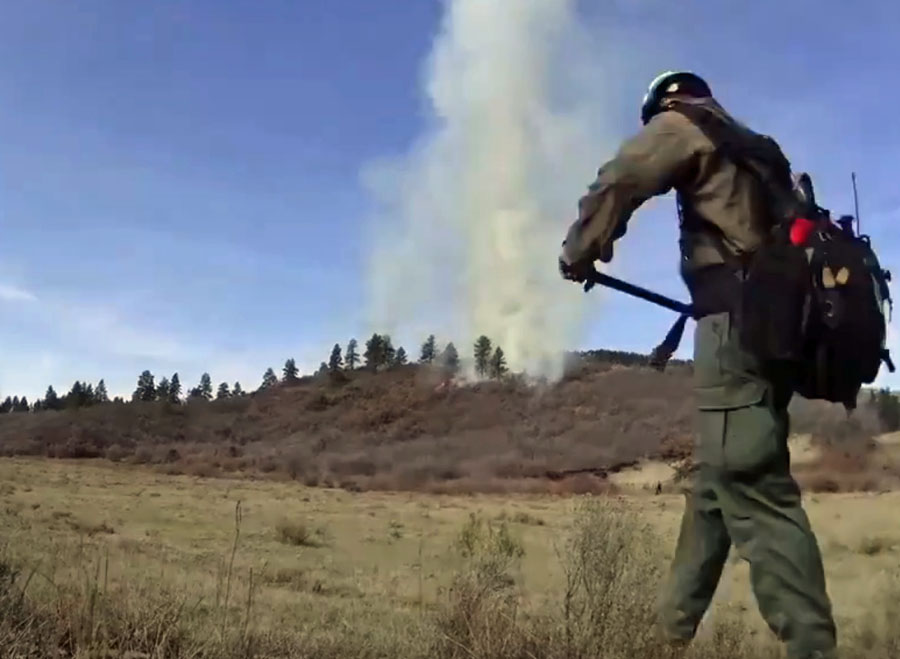 Time-lapse of prescribed fire in southwest Colorado