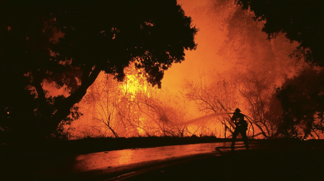 A firefighter works a blaze in Northern California. Photo courtesy CAL FIRE.