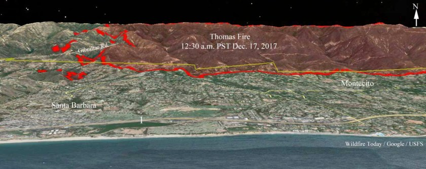 3-d map Thomas Fire december 17 2017