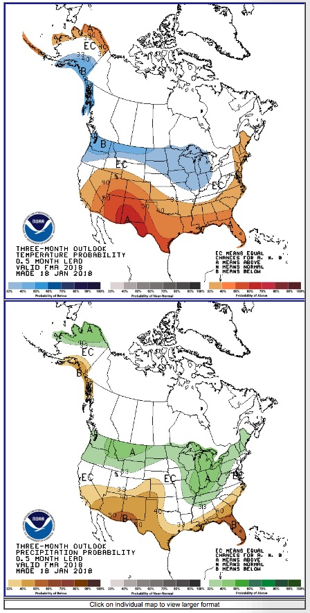 3-month temperature precipitation outlook