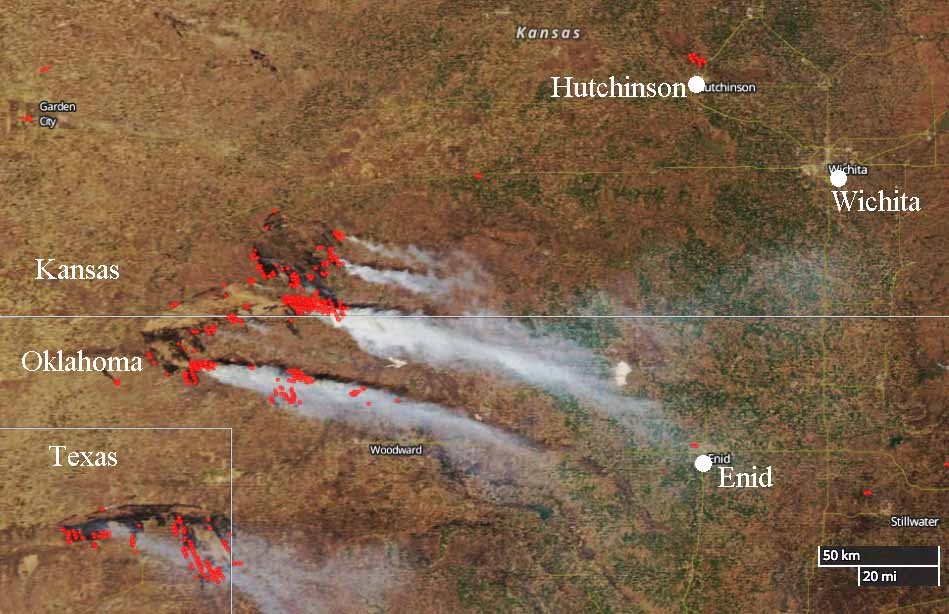 After action report completed for last year's wildfires near Hutchinson, Kansas