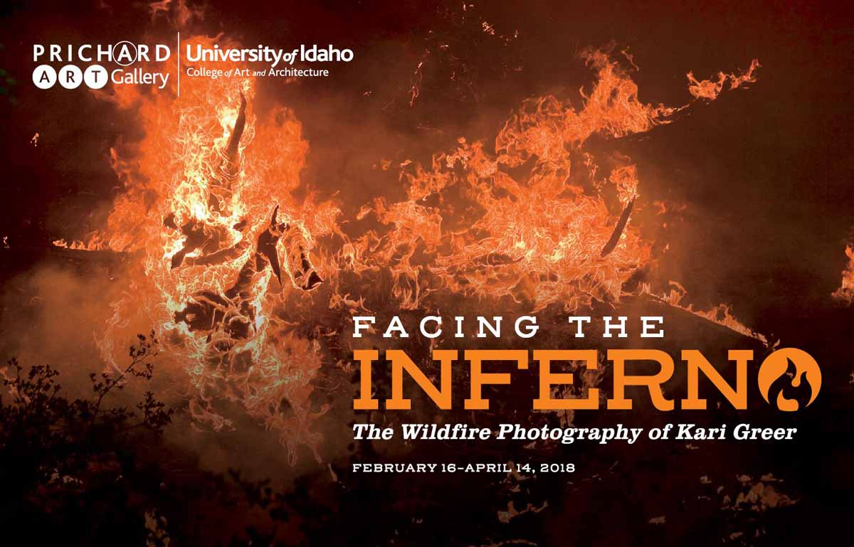 Exhibition of Kari Greer's wildfire photography at the University of Idaho
