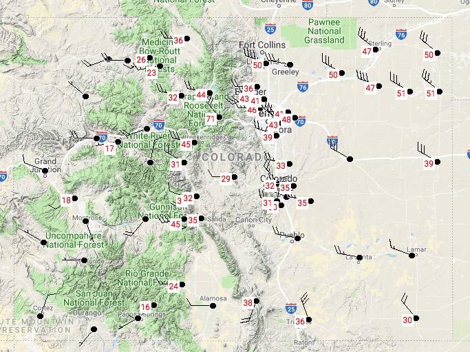 Colorado strong wind
