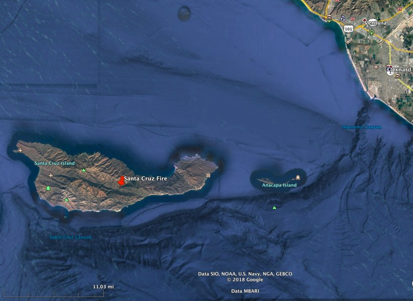 map Santa Cruz Island Fire