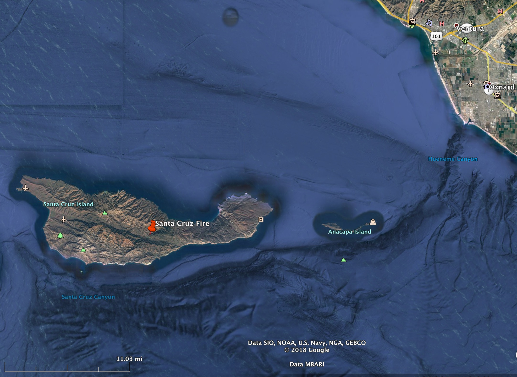 Wildfire Burns About 250 Acres On Santa Cruz Island Wildfire Today