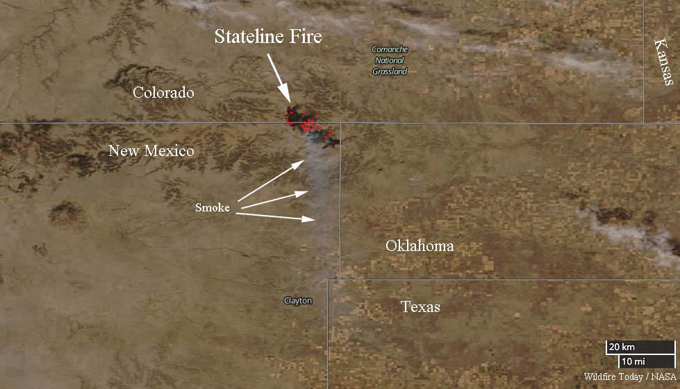 Map Of Texas New Mexico And Colorado.Stateline Fire Burns More Than 20 000 Acres In New Mexico And