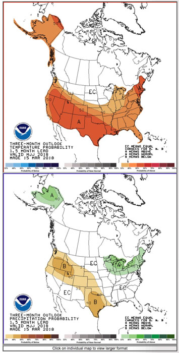 weather 90 day outlook