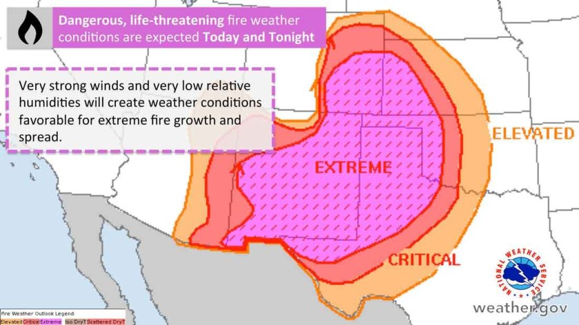 Fire weather april 17, 2018 dangerous wildfire