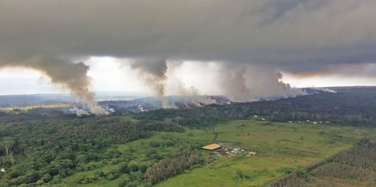 A prescribed fire, burning operation on a wildfire, or volcano?