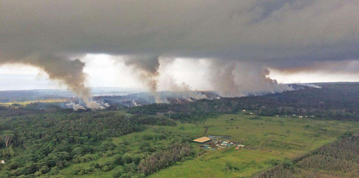 Volcano vents, Hawaii
