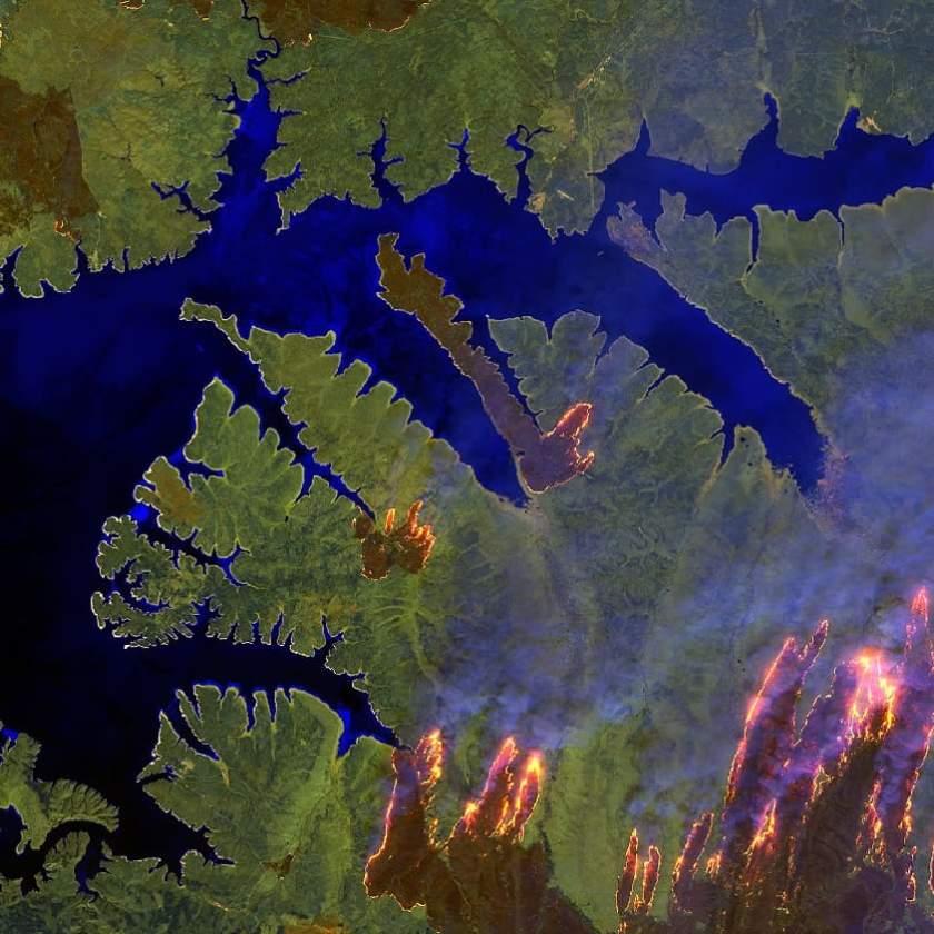 ESA satellite photo wildfire siberia