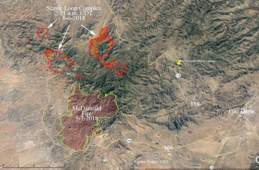Map of the fires Scenic Loop Complex