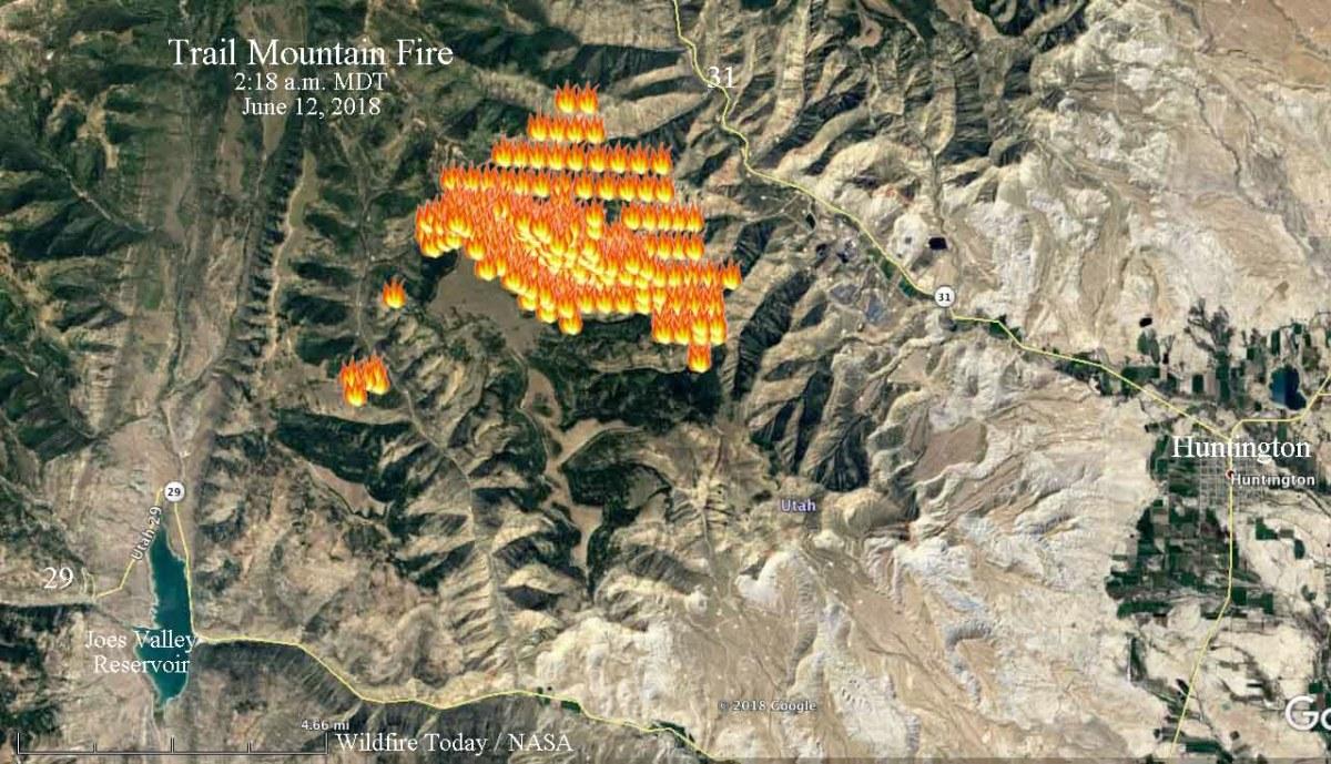 Prescribed fire escapes in Manti-La Sal National Forest