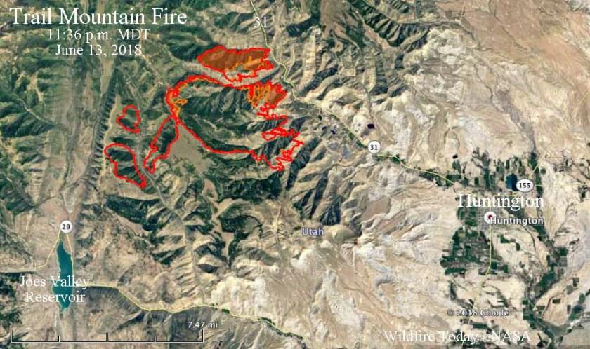 map Trail Mountain Fire