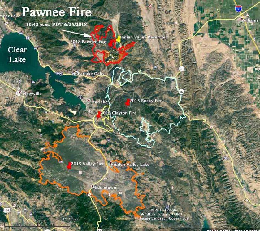 rocky fire valley fire clayton fire pawnee fire