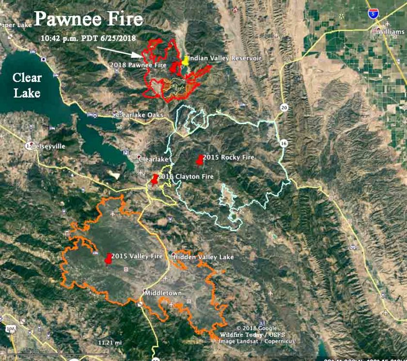rocky fire valley fire clayton fire pawnee fire