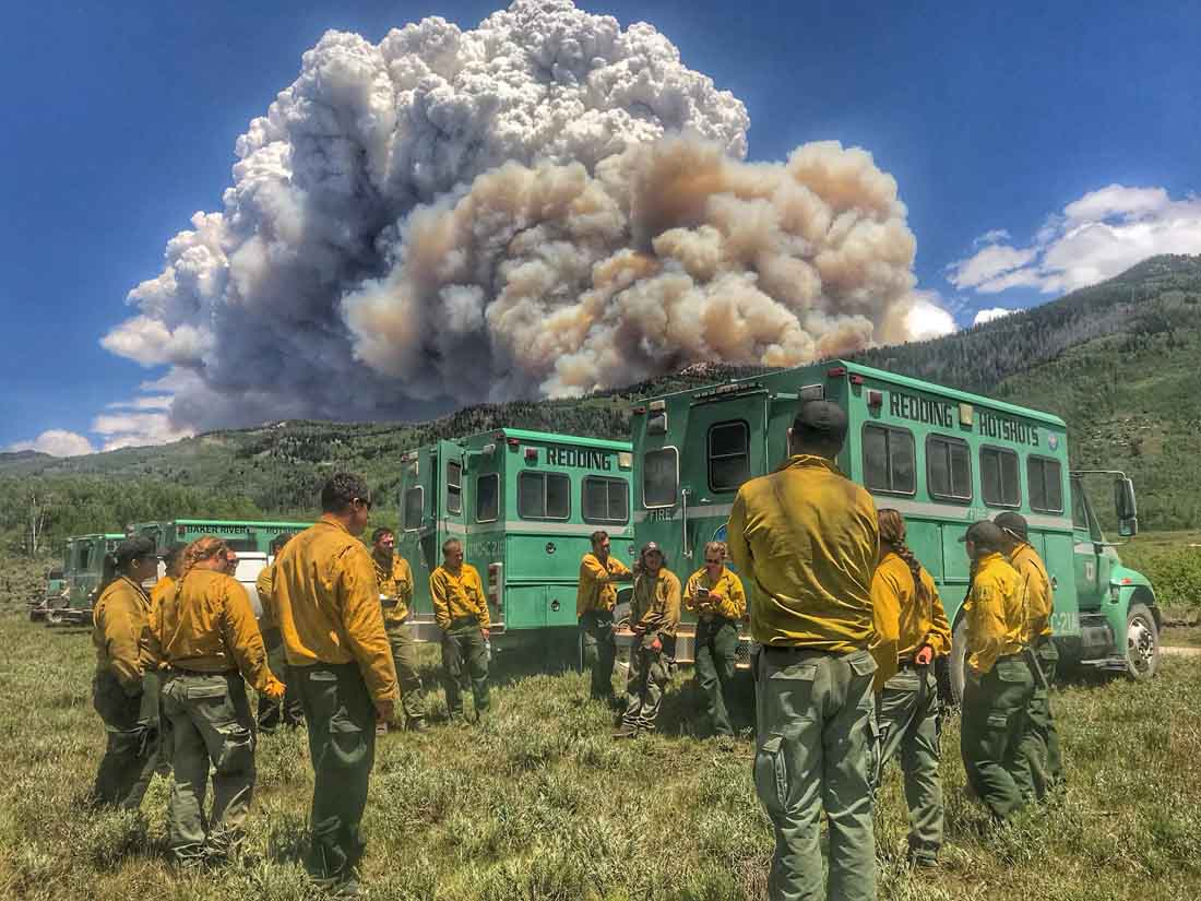 More moderate weather affects Trail Mountain Fire in Utah