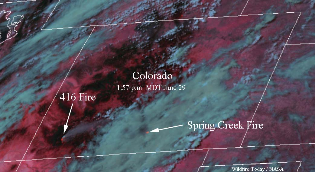 Satellite photo 416 Spring Creek Fires
